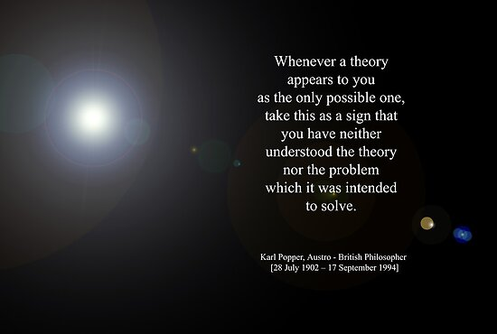 'Theory' By Karl Popper  [Austro - British Philosopher]  by © Sophie W. Smith