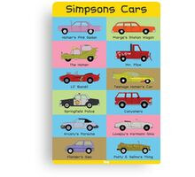 Simpsons Cars Canvas Print