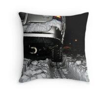 The Snowy Road Ahead Tonight Throw Pillow
