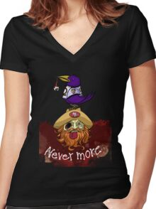 49ers Nevermore Women's Fitted V-Neck T-Shirt