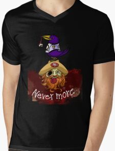 49ers Nevermore Mens V-Neck T-Shirt