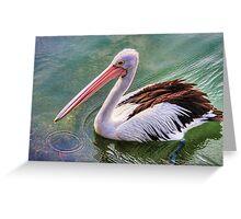 Pelican circle Greeting Card