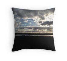 Sailing under clouds Throw Pillow