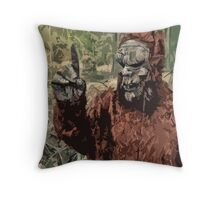 Sasquatch measuring wind Speed and Direction Throw Pillow