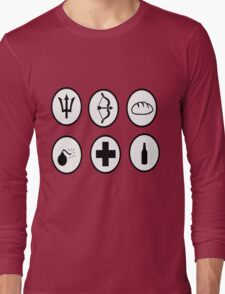Hunger Games Character Icons Long Sleeve T-Shirt
