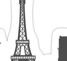 Paris Cityscape Sticker