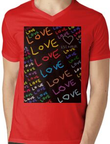 I Am In Love Mens V-Neck T-Shirt