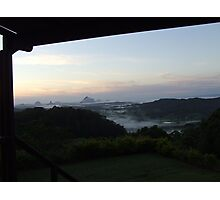 early morning cuppa...Maleny Photographic Print