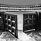 Ronda Bull Ring (Black and White) by Stephen Knowles