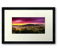 PURPLE SKYS SMOKY MOUNTAINS Framed Print