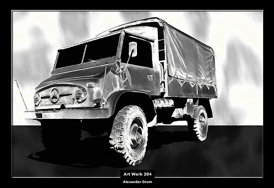 Art Work 204 Mercedes Unimog by Alexander Drum