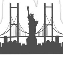 NYC Cityscape Sticker