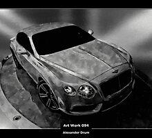 Art Work 094 Bentley black and white by Alexander Drum
