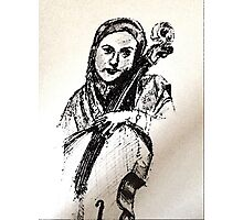 Cellist Photographic Print