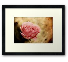 In the dew of little things Framed Print