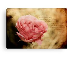 In the dew of little things Canvas Print