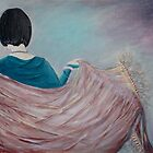 Girl with Shawl by Lesley Rowe
