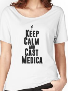 Keep Calm and Cast Medica Women's Relaxed Fit T-Shirt