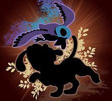 Super Smash Bros. Black Duck Hunt Silhouette by jewlecho