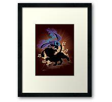 Super Smash Bros. Black Duck Hunt Silhouette Framed Print