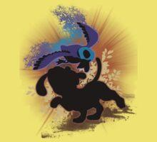 Super Smash Bros. Black Duck Hunt Silhouette Baby Tee