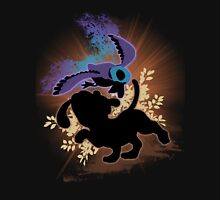 Super Smash Bros. Black Duck Hunt Silhouette Unisex T-Shirt