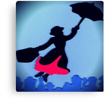 Mary Poppins In Flight Canvas Print