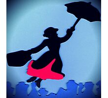 Mary Poppins In Flight Photographic Print