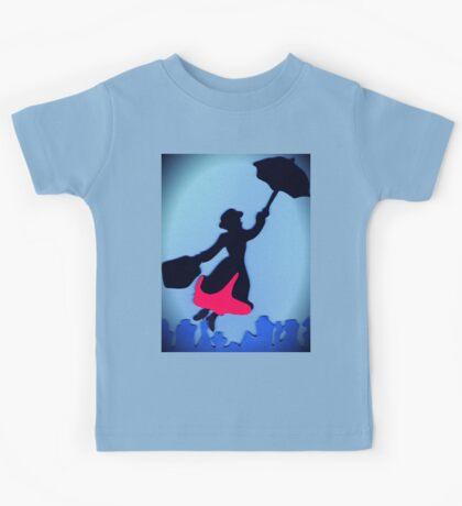 Mary Poppins In Flight Kids Tee