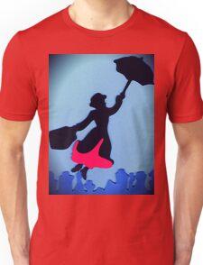 Mary Poppins In Flight Unisex T-Shirt