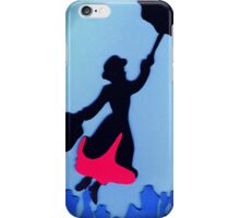 Mary Poppins In Flight iPhone Case/Skin