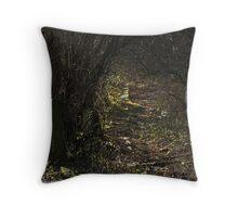 The Dark Fairytale Footpath  Throw Pillow