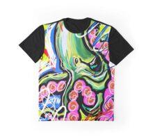 Graffiti Octopus Graphic T-Shirt