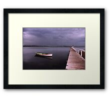 As the rain clouds descend Framed Print
