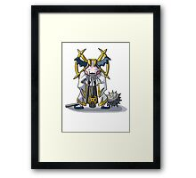 Final Fantasy- Mr Mime Cleric Framed Print