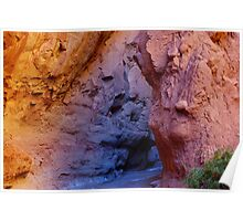 Multicolored slot canyon, Utah Poster