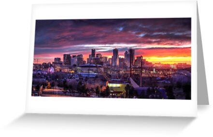 Denver Skyline Sunrise by greg1701