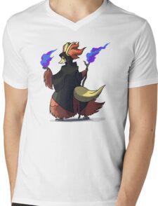 Final Fantasy - Delphox Dark Mage Mens V-Neck T-Shirt