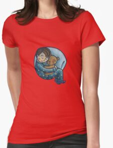 Sleeping Womens Fitted T-Shirt