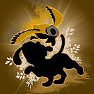 Super Smash Bros. Brown Duck Hunt Dog Silhouette by jewlecho