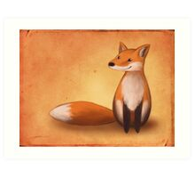 Smiling Fox Art Print