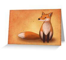 Smiling Fox Greeting Card