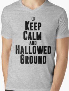 Keep Calm and Hallowed Ground Mens V-Neck T-Shirt
