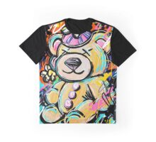 Stuffed Teddy Bear with Beanie Abstract Graphic T-Shirt