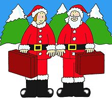 Happy Christmas we are moving Mr and Mrs Christmas by KateTaylor