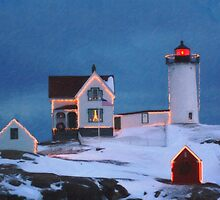 Cape Neddick Light, Maine art by Adam Asar