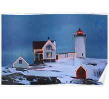 Cape Neddick Light, Maine art Poster