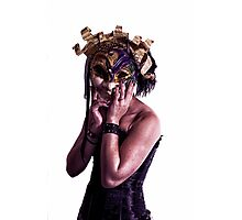 Mardi Mask Photographic Print