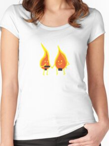 Naked Flames Women's Fitted Scoop T-Shirt