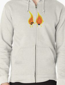 Naked Flames Zipped Hoodie